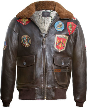 Шкіряна куртка Top Gun Offical Signature Series Jacket (коричнева)